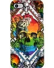 LGBT Skull Roses Phone Case Phone Case i-phone-8-case