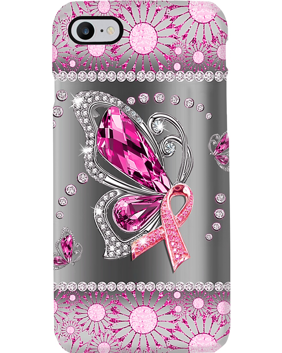 Breast Cancer - Butterfly Diamond Phonecase Phone Case
