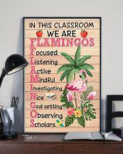 Teacher Flamingo 11x17 Poster lifestyle-poster-2