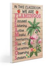 Teacher Flamingo Gallery Wrapped Canvas Prints tile