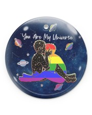LGBT - You Are My Universe Circle ornament - single (porcelain) front
