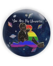 LGBT - You Are My Universe Circle ornament - single (wood) thumbnail
