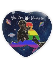 LGBT - You Are My Universe Heart ornament - single (wood) thumbnail