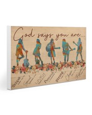 Guitar Lover God Says You Are 30x20 Gallery Wrapped Canvas Prints thumbnail