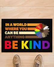 """LGBT - Be Kind Doormat Doormat 22.5"""" x 15""""  aos-doormat-22-5x15-lifestyle-front-02"""