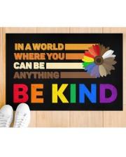 """LGBT - Be Kind Doormat Doormat 22.5"""" x 15""""  aos-doormat-22-5x15-lifestyle-front-03"""