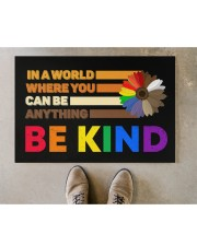"""LGBT - Be Kind Doormat Doormat 22.5"""" x 15""""  aos-doormat-22-5x15-lifestyle-front-04"""