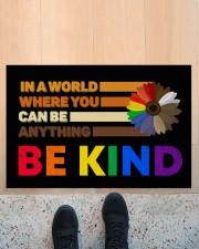 """LGBT - Be Kind Doormat Doormat 22.5"""" x 15""""  aos-doormat-22-5x15-lifestyle-front-10"""
