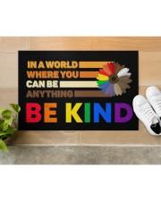 """LGBT - Be Kind Doormat Doormat 22.5"""" x 15""""  aos-doormat-22-5x15-lifestyle-front-12"""