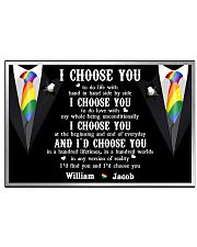 Personalized Lgbt - I Choose You 17x11 Poster front