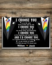 Personalized Lgbt - I Choose You 17x11 Poster poster-landscape-17x11-lifestyle-14