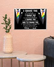 Personalized Lgbt - I Choose You 17x11 Poster poster-landscape-17x11-lifestyle-21