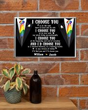Personalized Lgbt - I Choose You 17x11 Poster poster-landscape-17x11-lifestyle-23
