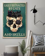 Easily Distracted By Cats And Skulls 11x17 Poster lifestyle-poster-1