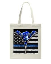 Back The Blue Roses  Tote Bag tile