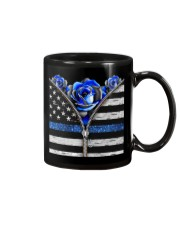 Back The Blue Roses  Mug tile