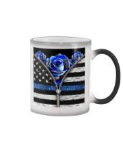 Back The Blue Roses  Color Changing Mug tile