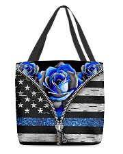 Back The Blue Roses  All-over Tote front