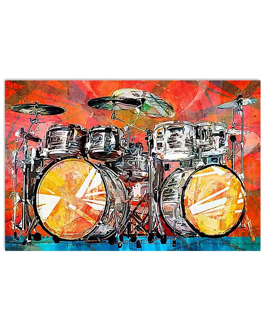 Poster - Drummer - Drumset Art  17x11 Poster