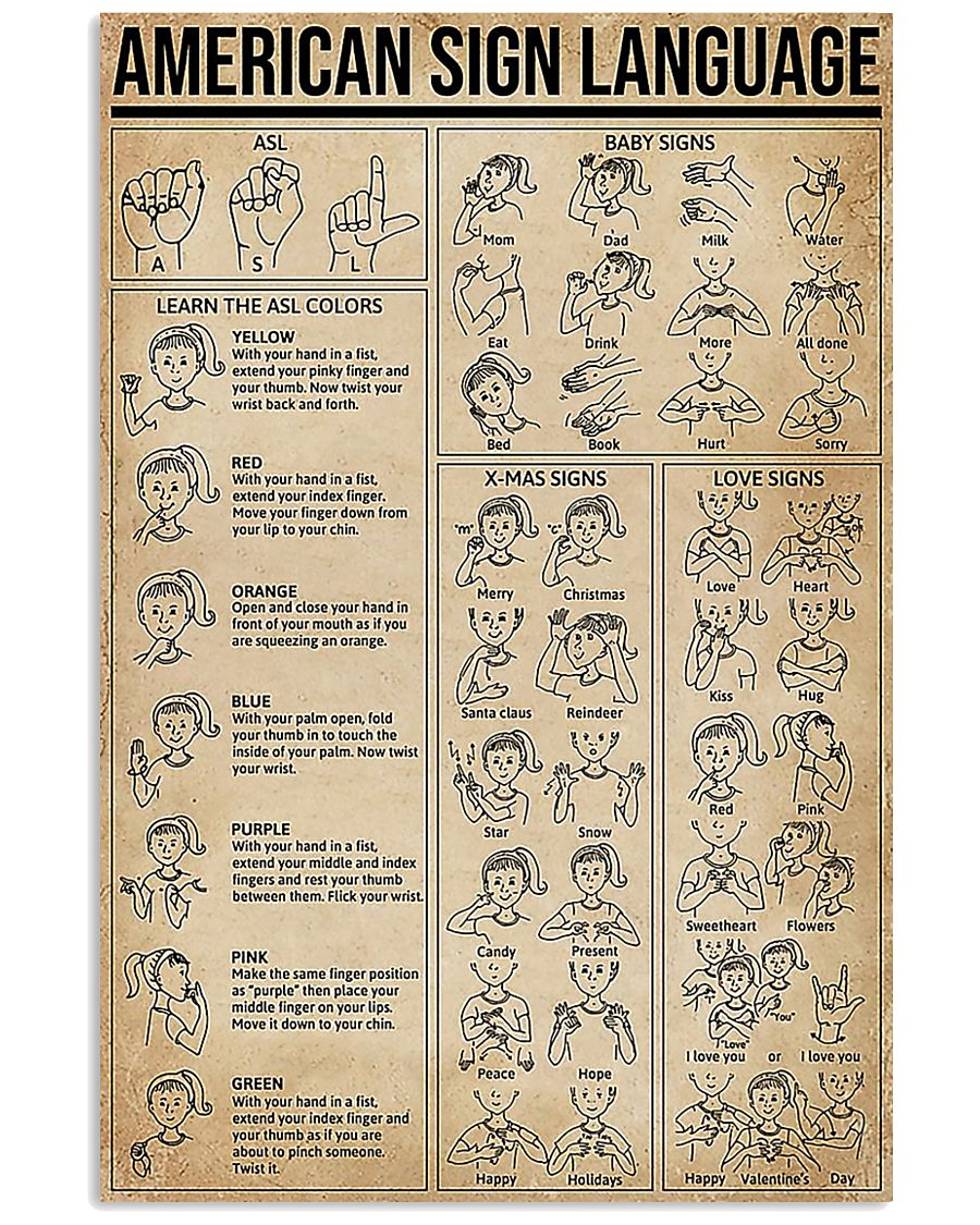 American Sign Language 11x17 Poster