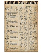 American Sign Language 11x17 Poster front