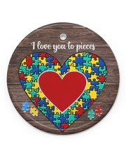 Autism I Love You To Pieces Circle ornament - single (porcelain) front