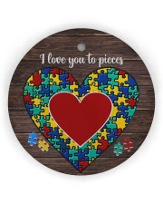 Autism I Love You To Pieces Circle Ornament (Wood tile
