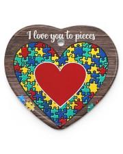 Autism I Love You To Pieces Heart Ornament (Porcelain) tile