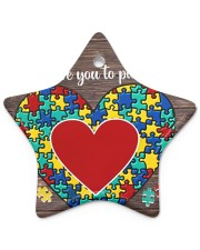 Autism I Love You To Pieces Star Ornament (Porcelain) tile