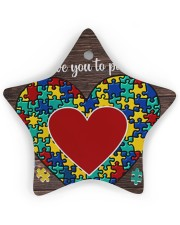 Autism I Love You To Pieces Star Ornament (Wood) tile