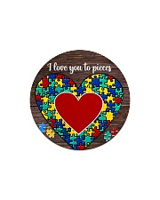 Autism I Love You To Pieces Circle Magnet tile