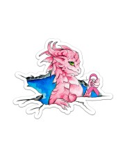 Breast Cancer Dragon Sticker - Single (Vertical) front