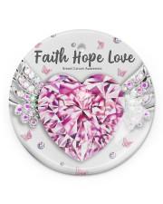 Breast Cancer - Faith Hope Love Circle ornament - single (porcelain) thumbnail