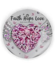 Breast Cancer - Faith Hope Love Circle ornament - single (wood) thumbnail