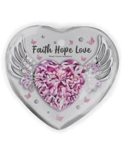 Breast Cancer - Faith Hope Love Heart ornament - single (wood) thumbnail