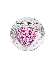 Breast Cancer - Faith Hope Love Circle Magnet thumbnail