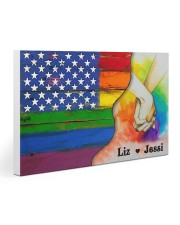 Personalized LGBT Love Is Love 30x20 Gallery Wrapped Canvas Prints thumbnail