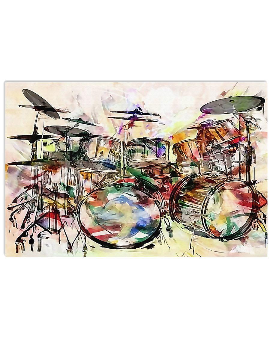 Poster - Drummer - Unique Drums Art  17x11 Poster