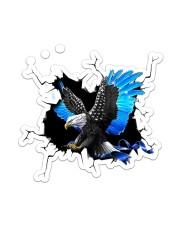 Eagle Police Blue Crack Sticker - Single (Vertical) front
