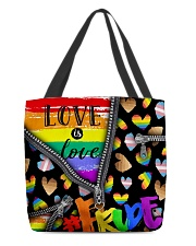 LGBT Love Is Love All-over Tote front
