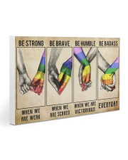LGBT - Be Strong Poster Gallery Wrapped Canvas Prints tile