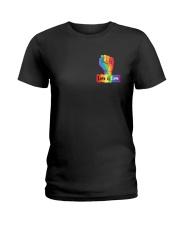 Pride LGBT Flag 2 Sides  Ladies T-Shirt tile