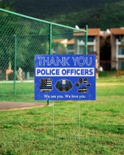 Police - Police Officers 24x18 Yard Sign aos-yard-sign-24x18-lifestyle-front-21