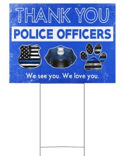 Police - Police Officers 24x18 Yard Sign back