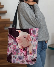 Pig - Breast Cancer Zip Tote All-over Tote aos-all-over-tote-lifestyle-front-09