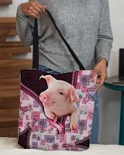 Pig - Breast Cancer Zip Tote All-over Tote aos-all-over-tote-lifestyle-front-10