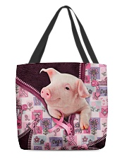 Pig - Breast Cancer Zip Tote All-over Tote back