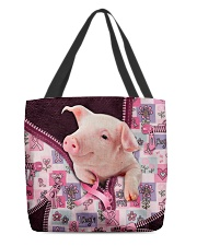 Pig - Breast Cancer Zip Tote All-over Tote front