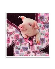 Pig - Breast Cancer Zip Tote Sticker tile