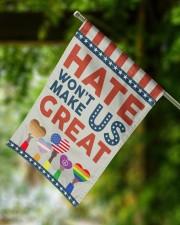 "Hate Won't Make Us Great 11.5""x17.5"" Garden Flag aos-garden-flag-11-5-x-17-5-lifestyle-front-15"
